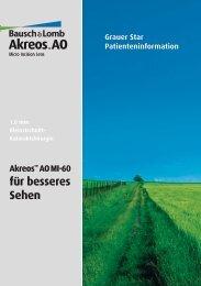 Akreos™ AO MI-60 - Injektionslinse.de