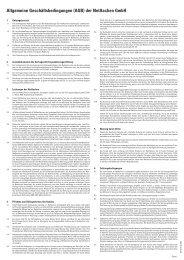 Allgemeine Geschäftsbedingungen (AGB) der NetAachen GmbH