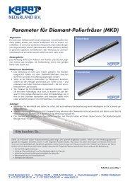 Parameter für Diamant-Polierfräser (MKD) - Karat