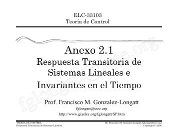 Respuesta Transitoria de Sistemas Lineales - Associate Professor ...
