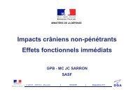 Impacts crâniens non-pénétrants. Effets fonctionnels. JC ... - carum