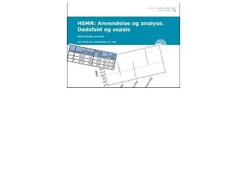 HSMR: Anvendelse og analyse. Dødsfald og sepsis