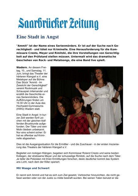 Vorbericht Ammit - Theater der härteren Klangart