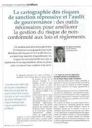 LE DAMANY, Sylvie - La cartographie des risques de sanction ...