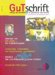 GuTschrift Zeitung des Berufskollegs Aachen Ausgabe 3. 2006
