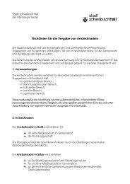Richtlinien für die Vergabe von Anstecknadeln - Stadt Schwäbisch ...