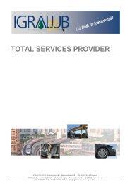 TOTAL SERVICES PROVIDER - IGRALUB Deutschland GmbH