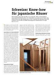 Schweizer Know-how für japanische Häuser - Plattform Zukunft Bau