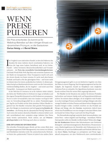 Wenn Preise pulsieren, in Lead Digital Magazin ... - Kapow Software