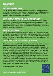 Briefing - Werbeclub Ostschweiz