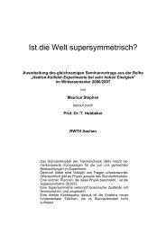 Ist die Welt supersymmetrisch? - Server der Fachgruppe Physik der ...