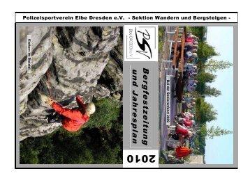 Jahresplan 2010 - PSV Elbe Dresden eV -Sektion Wandern und ...