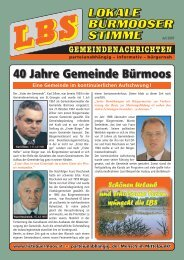 LBS-Gemeindenachrichten - Liste Bürmoos