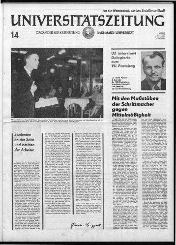 """Mit-den Maßstäbe.n ':de·r Schrittmacher """"g.gen M'ittelmäßigkeit."""