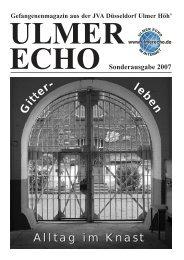 Gitterleben - Alltag im Knast - Ulmer Echo