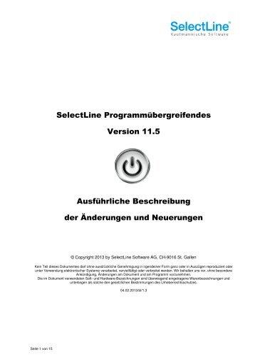 Update Programmübergreifendes Version 11.5.pdf - SelectLine