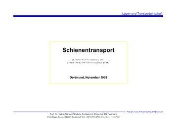 Schienentransport - Prof. Dr. Heinz-Michael Winkels