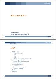 XSL und XSLT