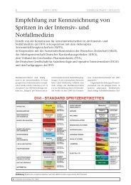 Empfehlung zur Kennzeichnung von Spritzen in der Intensiv ... - DIVI