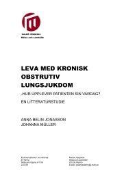 LEVA MED KRONISK OBSTRUKTIV ... - Malmö högskola