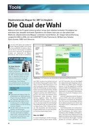 Objektrelationale Mapper für .NET im Vergleich - Dotnetpro