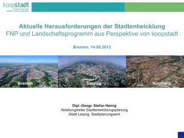 Aktuelle Herausforderungen der Stadtentwicklung, FNP und ...