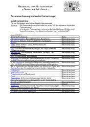 Zusammenfassung bindender Festsetzungen - Regierung von ...