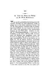 II. Ueber cias Klinza von Peking;