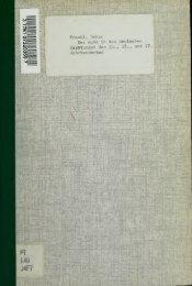 Der Jude in den deutschen Dichtungen des 15., 16., und 17 ...