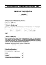 Deutsch 2006 - Wirtschaftsschule Seligenthal
