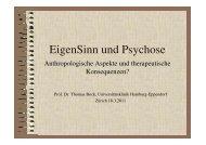 Psychosen - Psychiatrische Universitätsklinik Zürich