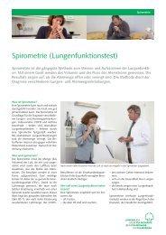 Spirometrie (Lungenfunktionstest) - Lungenliga
