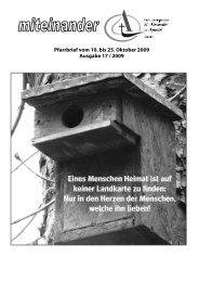 Pfarrbrief Nr. 2009-17 - Kath-Rastatt