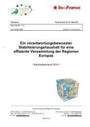 Ein verantwortungsbewusster Stabilisierungshaushalt für eine ...