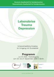 37. Jahrestagung - Deutsche Gesellschaft für Suizidprävention