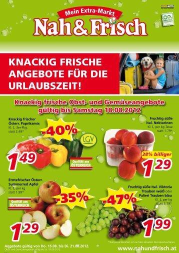 KNACKIG FRISCHE ANGEBOTE FÜR DIE URLAUBSZEIT!