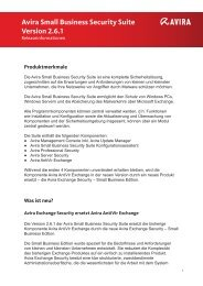 Avira Small Business Security Suite Version 2.6.1