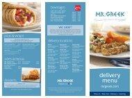 delivery menu - Mr. Greek Restaurants