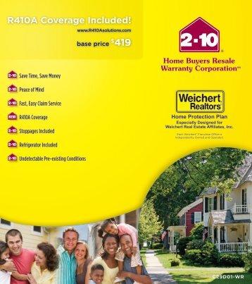 Weichert Magazines - Weichert home protection plan