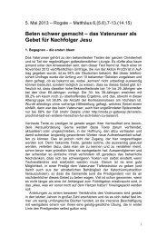 Predigtmeditation Vaterunser (ediert) - Nottingham ePrints