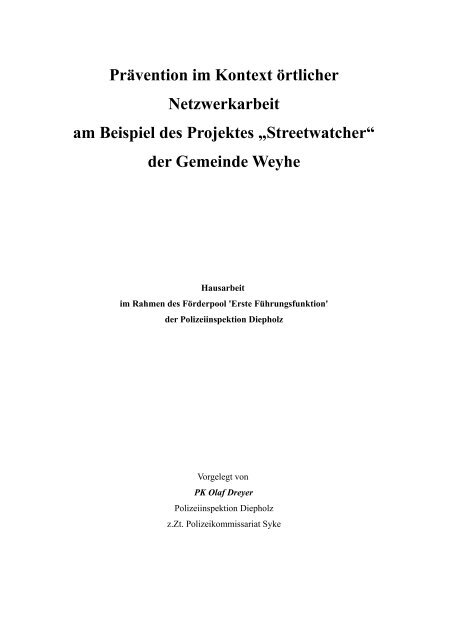 Hausarbeit - PRO YOUgend Weyhe eV
