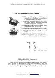 Fultograph aus Radio-Katalog 1928/1929 - Radio Diehr / Berlin ...