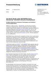 Pressemitteilung - Biotronik