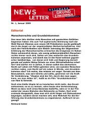 Newsletter Nr. 1/2009 des Netzwerks Grundeinkommen - Archiv ...