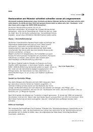Restauration am Münster schreitet schneller voran als angenommen