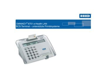 OMNIKEY® 8751 e-Health LAN BCS-Terminal ... - ZEMO GmbH