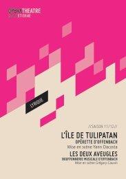 Programme de salle - Opéra Théâtre de Saint-Etienne