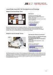 Überblick über alle PreisträgerInnen beim Joseph ... - Designaustria
