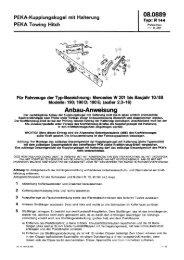PEKA-Kupplungskugel mit Halterung 333