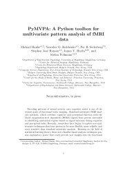 PyMVPA: A Python toolbox for multivariate pattern ... - Michael Hanke